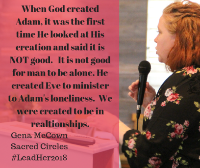 When God created Adam, it was the first time He looked at His creation and said it is NOT good. It is not good for man to be alone. He created Eve to minister to Adam's loneliness.